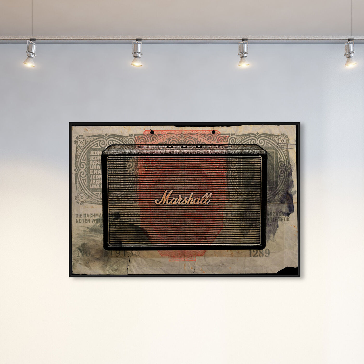 Hanging view of Marshall Audio featuring music and dance and music instruments art.