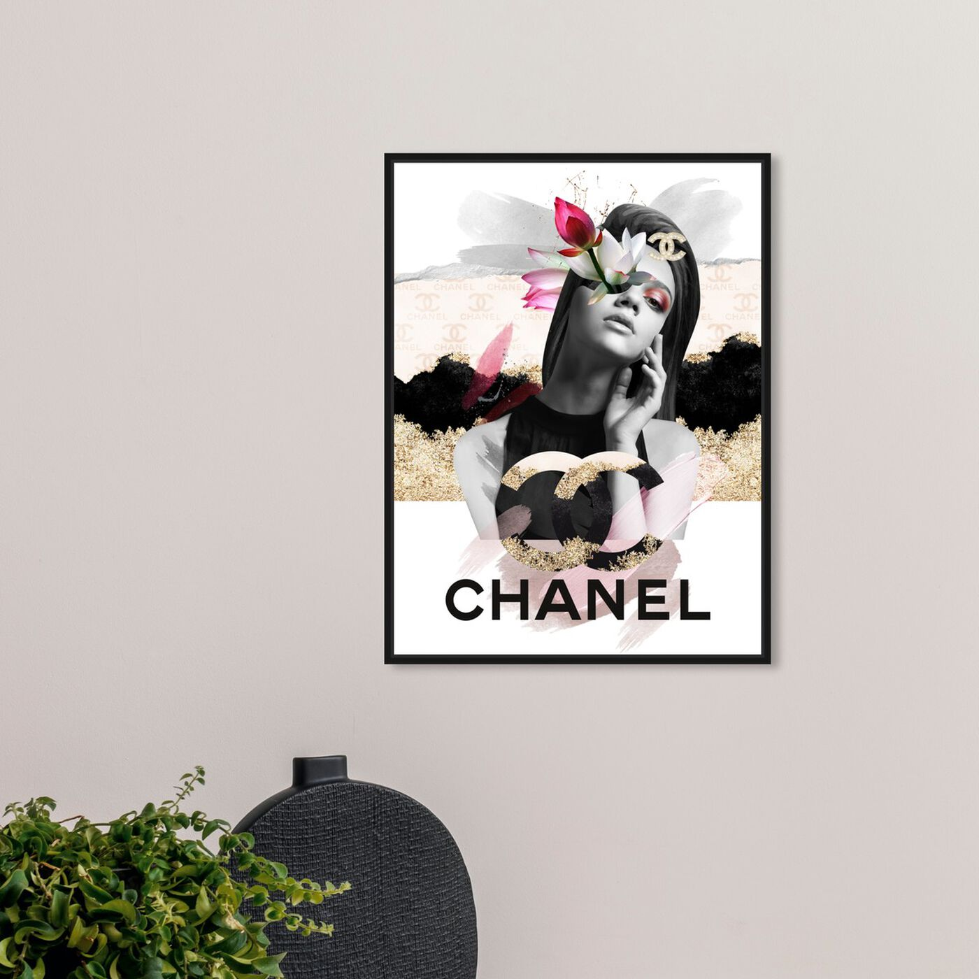 Hanging view of Trendy Lady I featuring fashion and glam and lifestyle art.