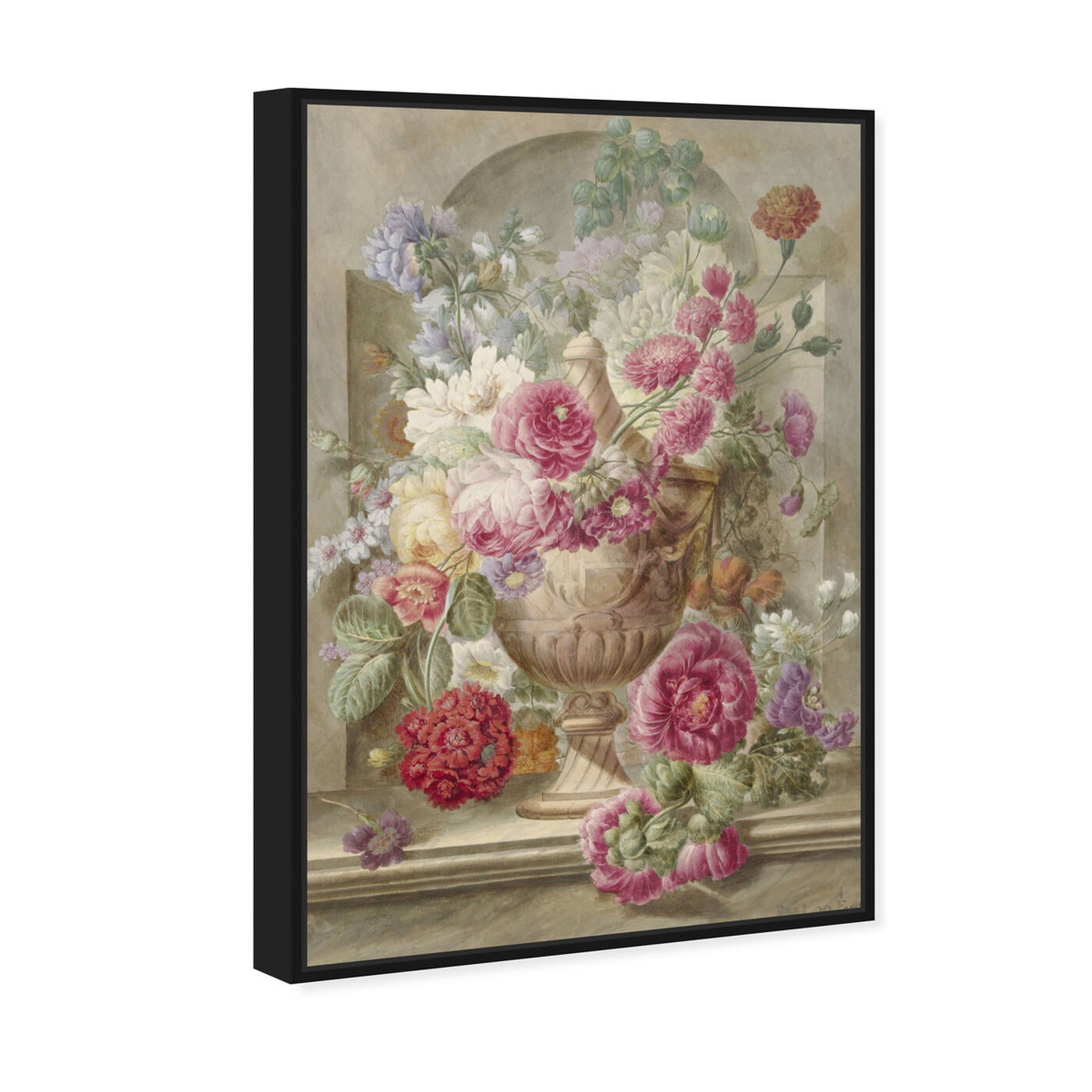 Angled view of Flower Arrangement XII - The Art Cabinet featuring floral and botanical and florals art.