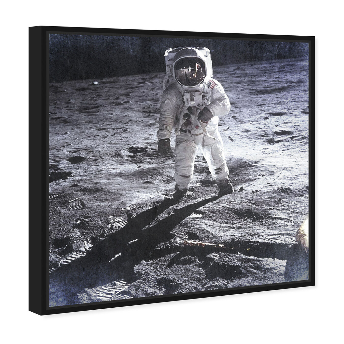 Angled view of Man on the Moon featuring people and portraits and professions art.