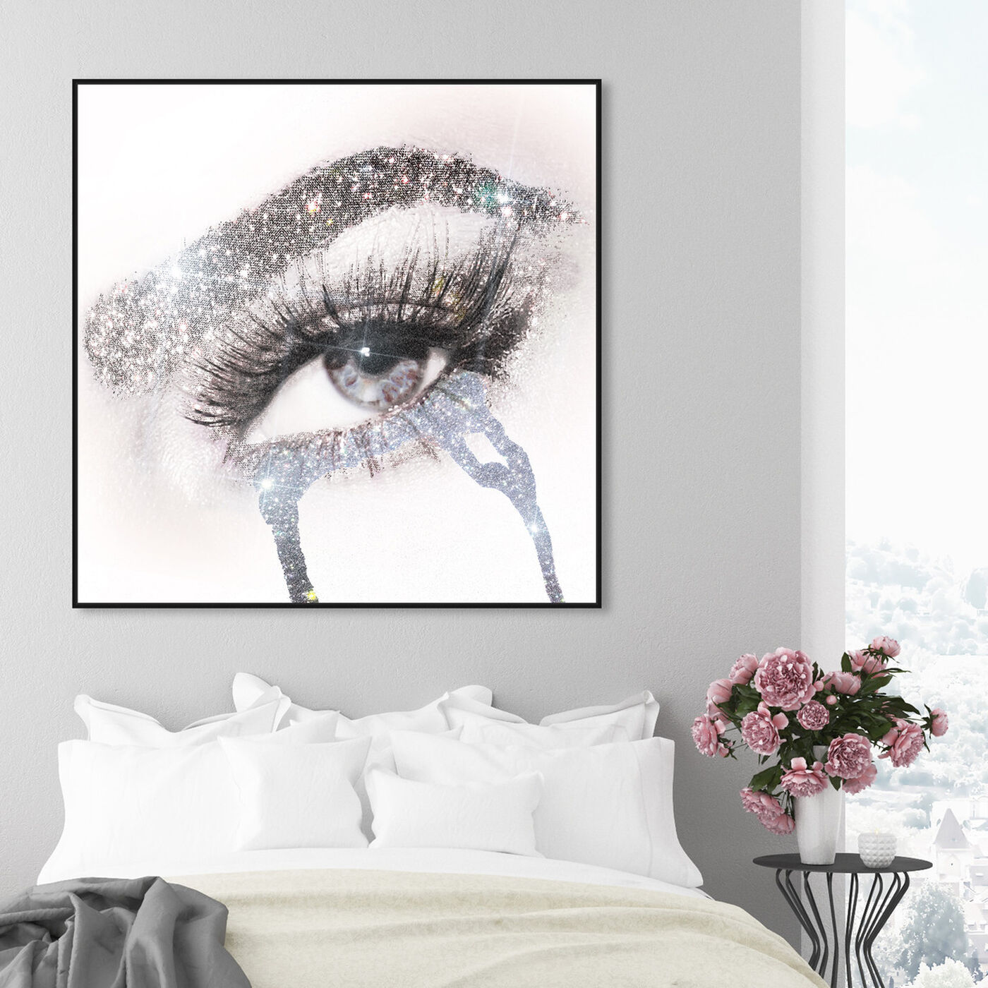 Hanging view of Eyes and Rhinestones II featuring fashion and glam and makeup art.