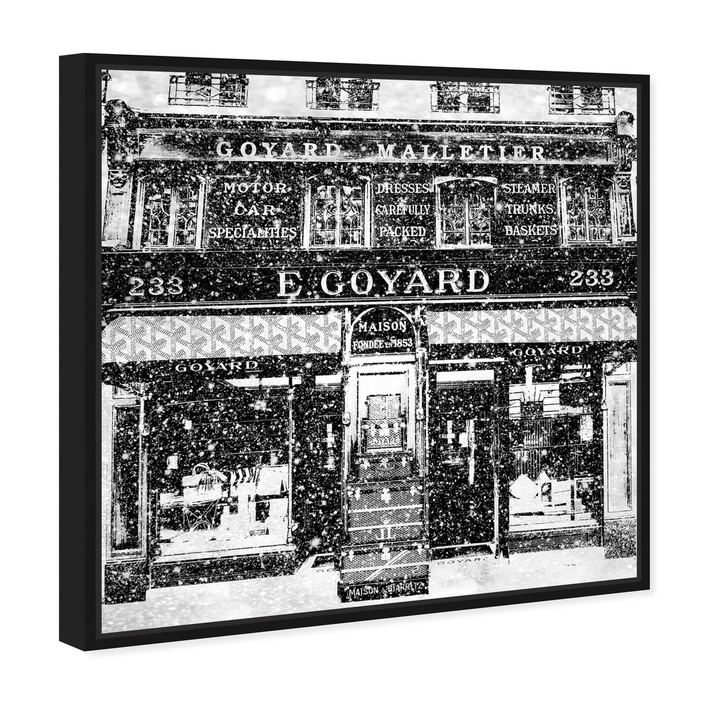 Angled view of Travel Store Rue Saint-Honoré featuring cities and skylines and european cities art.