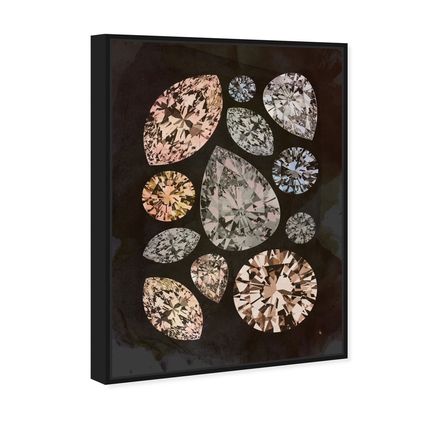Angled view of Autumn Stones featuring abstract and crystals art.