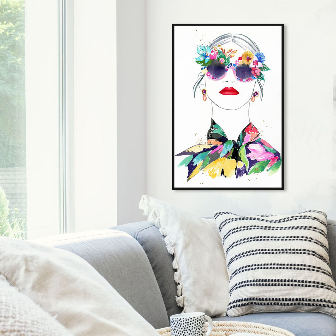 Hanging view of Botanical Blouse featuring fashion and glam and portraits art.