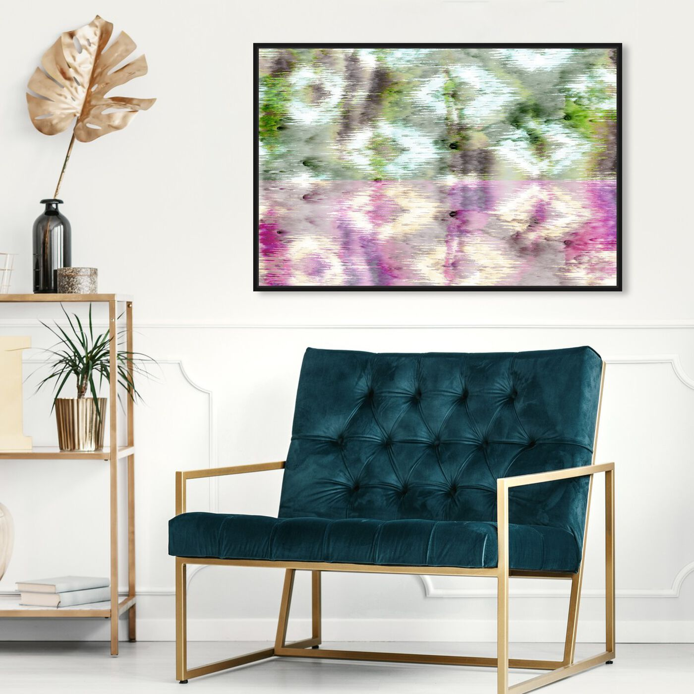 Hanging view of Morning Rain featuring abstract and patterns art.