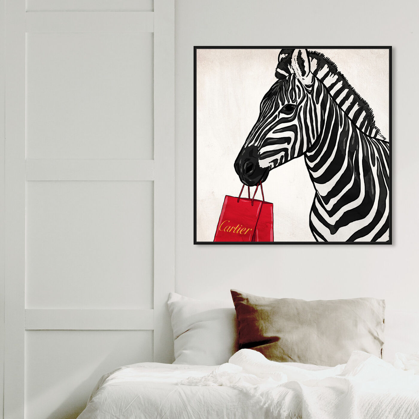 Hanging view of Expensive Zebra featuring fashion and glam and fashion art.