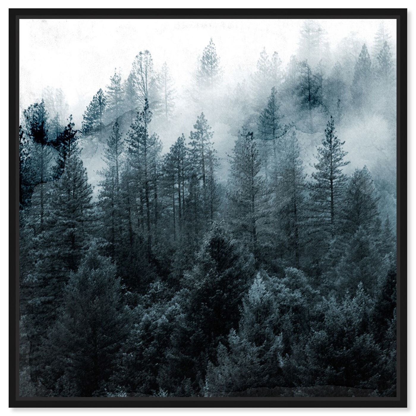 Front view of Over The Pine featuring nature and landscape and forest landscapes art.