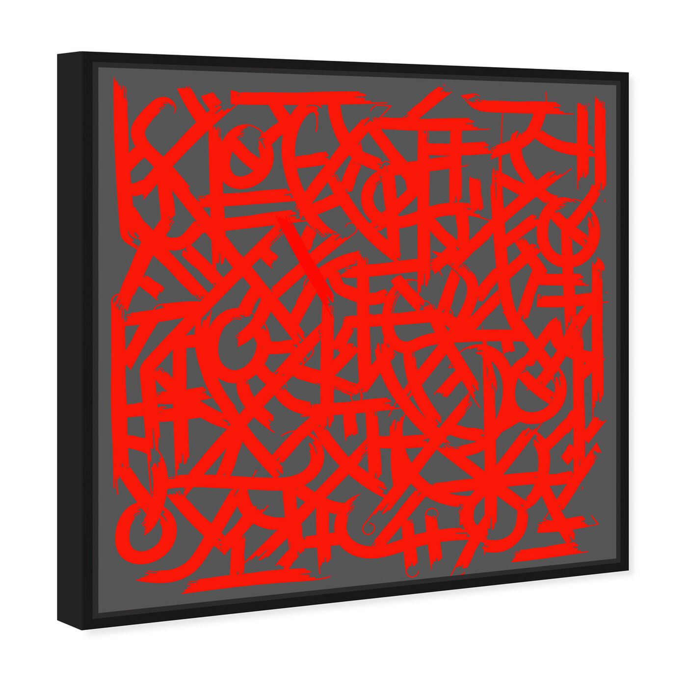 Angled view of Matt Bentley Hoover - Red featuring abstract and patterns art.