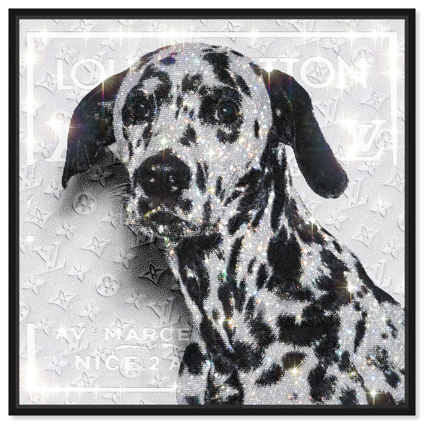 Front view of Off Dalmatian featuring fashion and glam and lifestyle art.