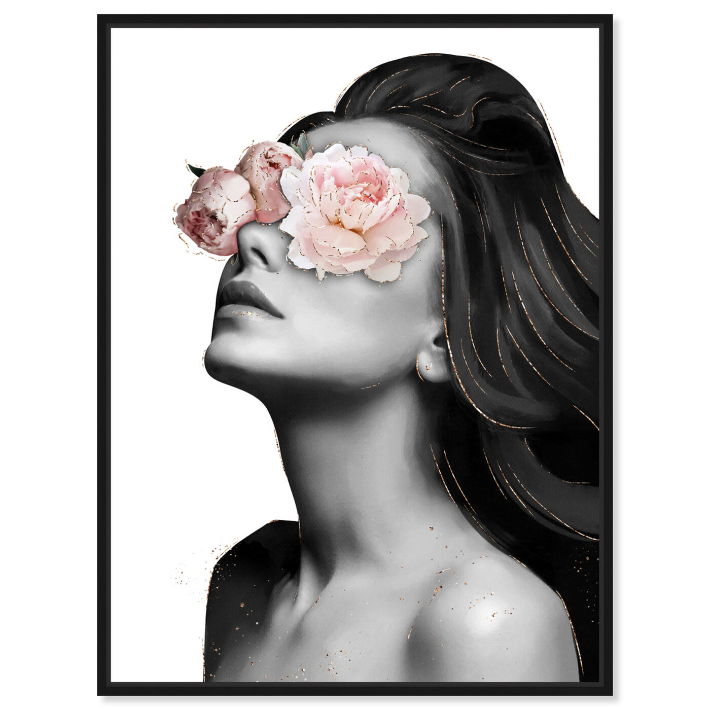 Front view of Floral Beauty VI featuring floral and botanical and florals art.