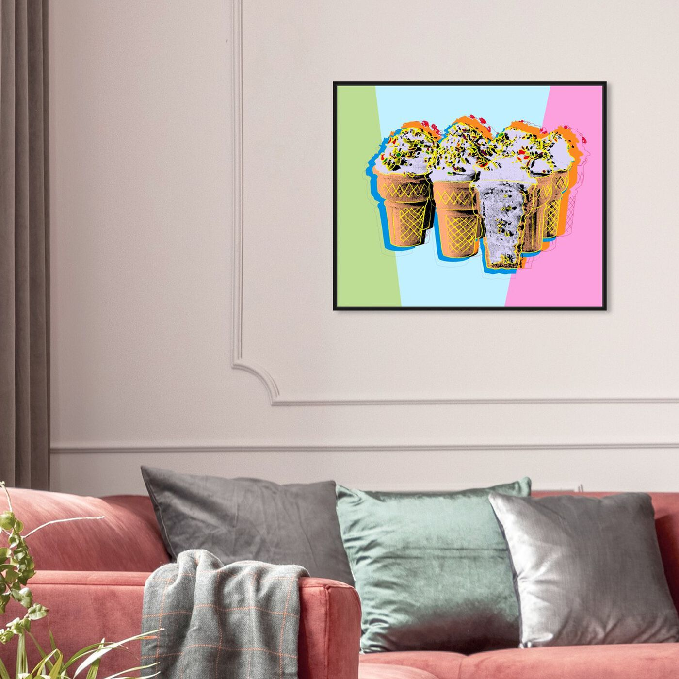 Hanging view of Pastel Ice Cream featuring food and cuisine and ice cream and milkshakes art.