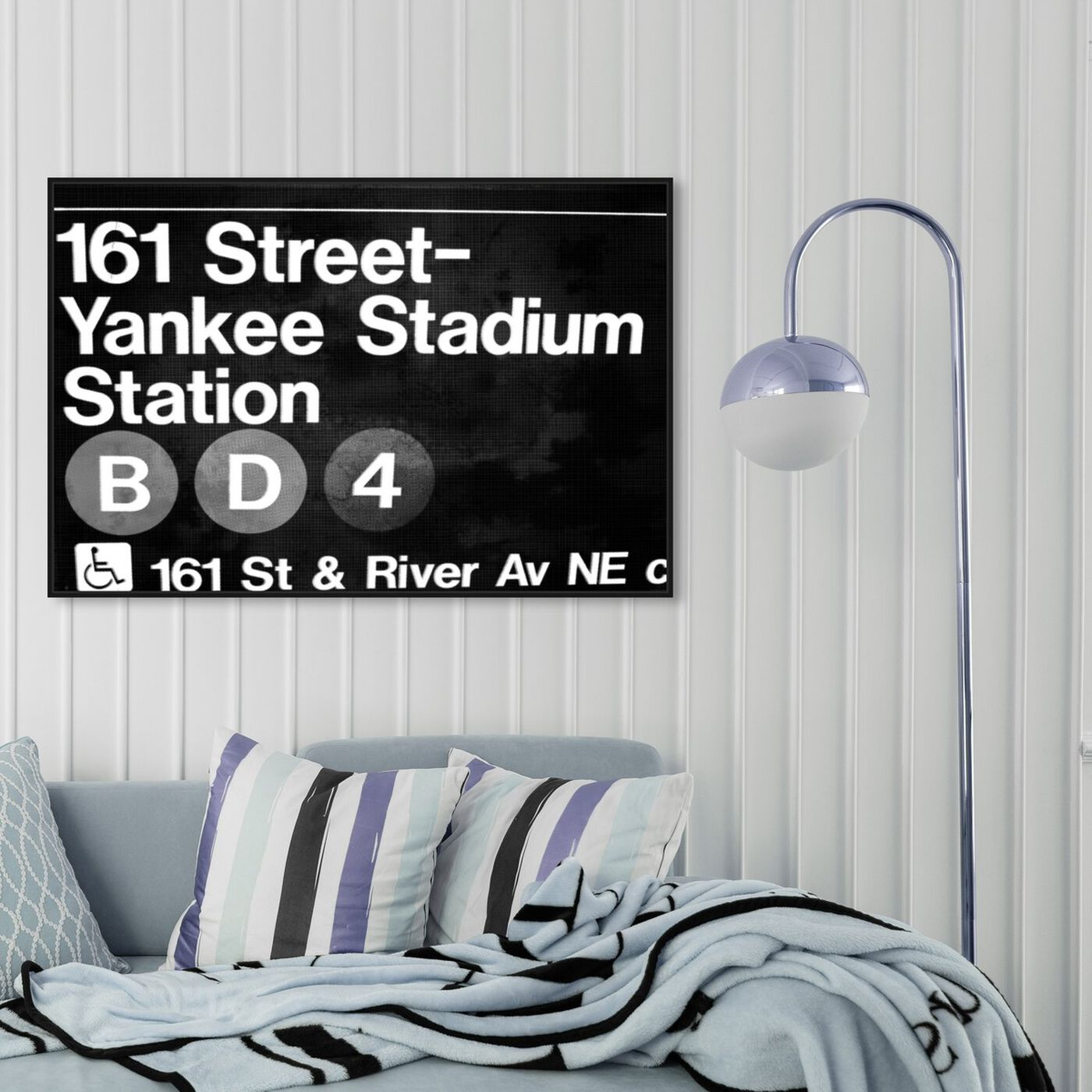 Hanging view of Yankee Stadium featuring cities and skylines and united states cities art.