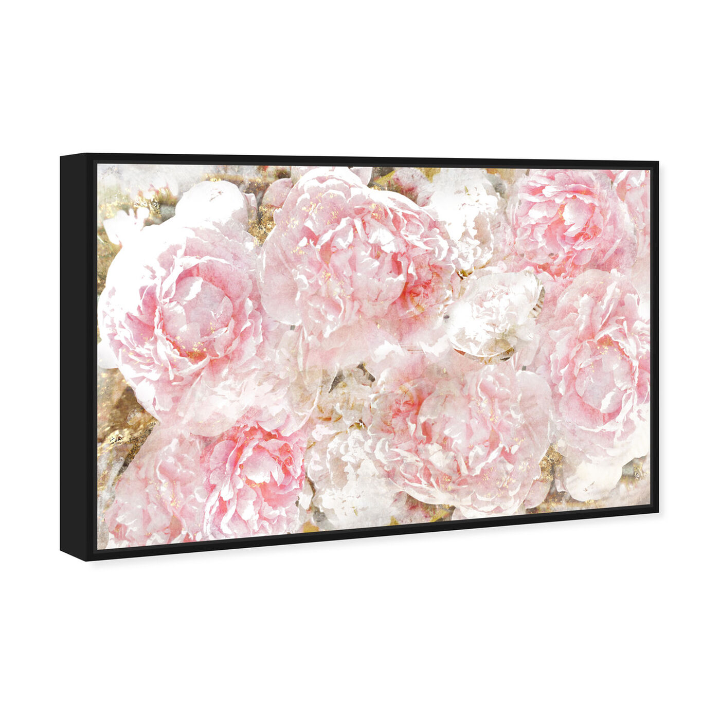Angled view of Pile O' Roses featuring floral and botanical and florals art.
