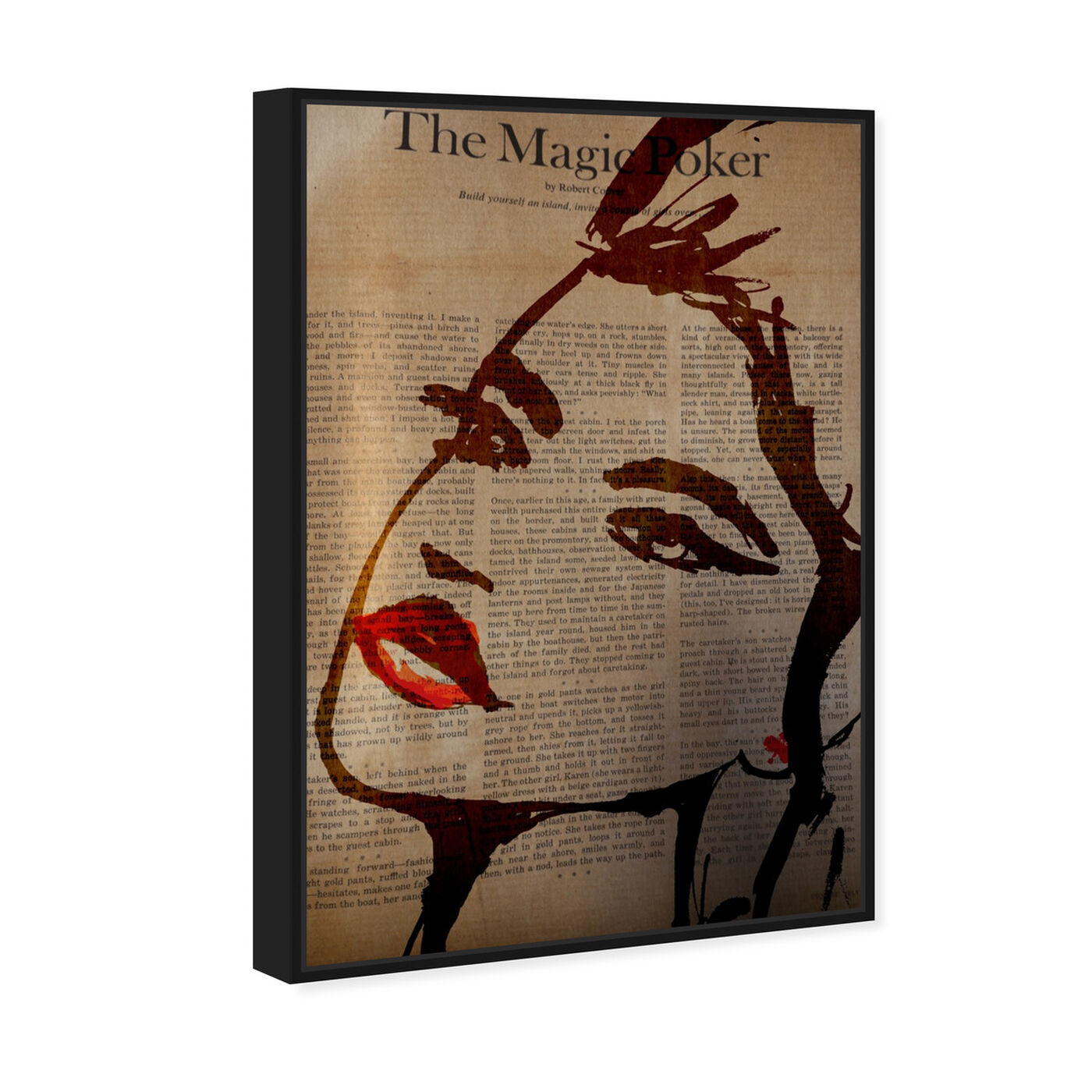 Angled view of The Magic Poker featuring fashion and glam and portraits art.