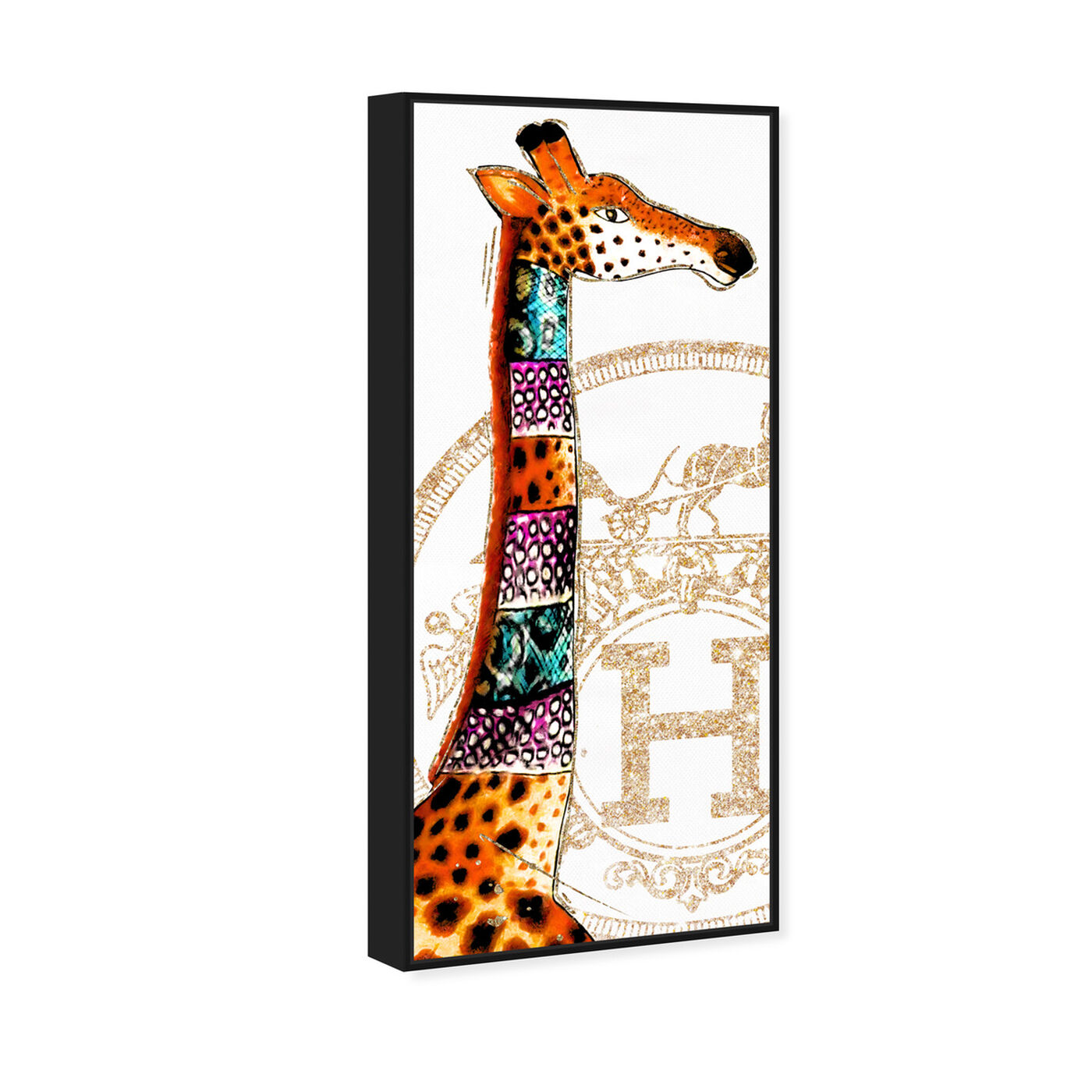 Angled view of Giraffe Stand featuring fashion and glam and lifestyle art.