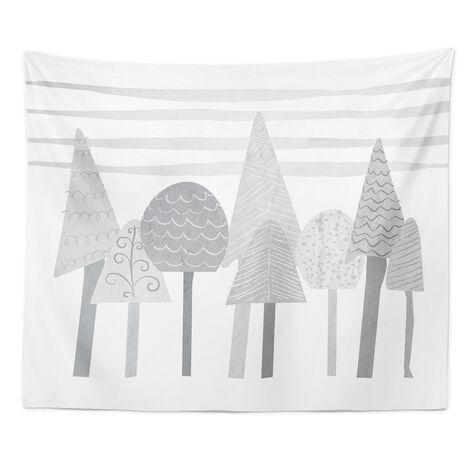 Scandinavian Tree Tops Short Tapestry Art