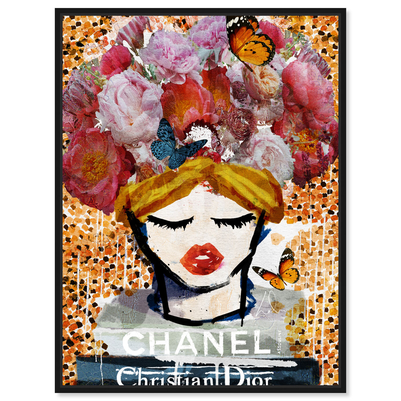 Front view of Sicilian Vase featuring fashion and glam and books art.
