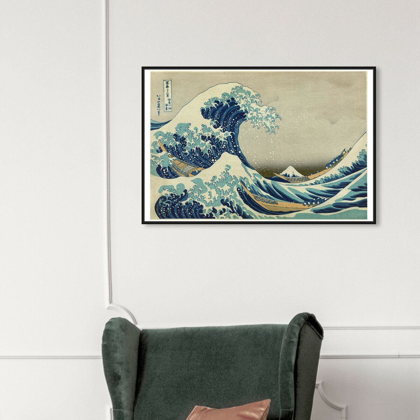 Hanging view of The Great Wave of Kanagawa featuring world and countries and asian cultures art.