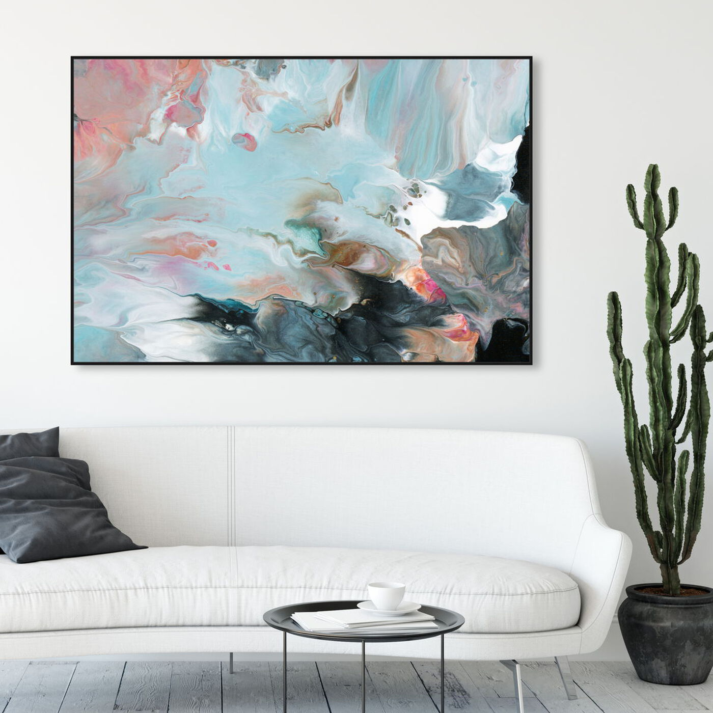 Hanging view of Dreaming in Colors featuring abstract and paint art.