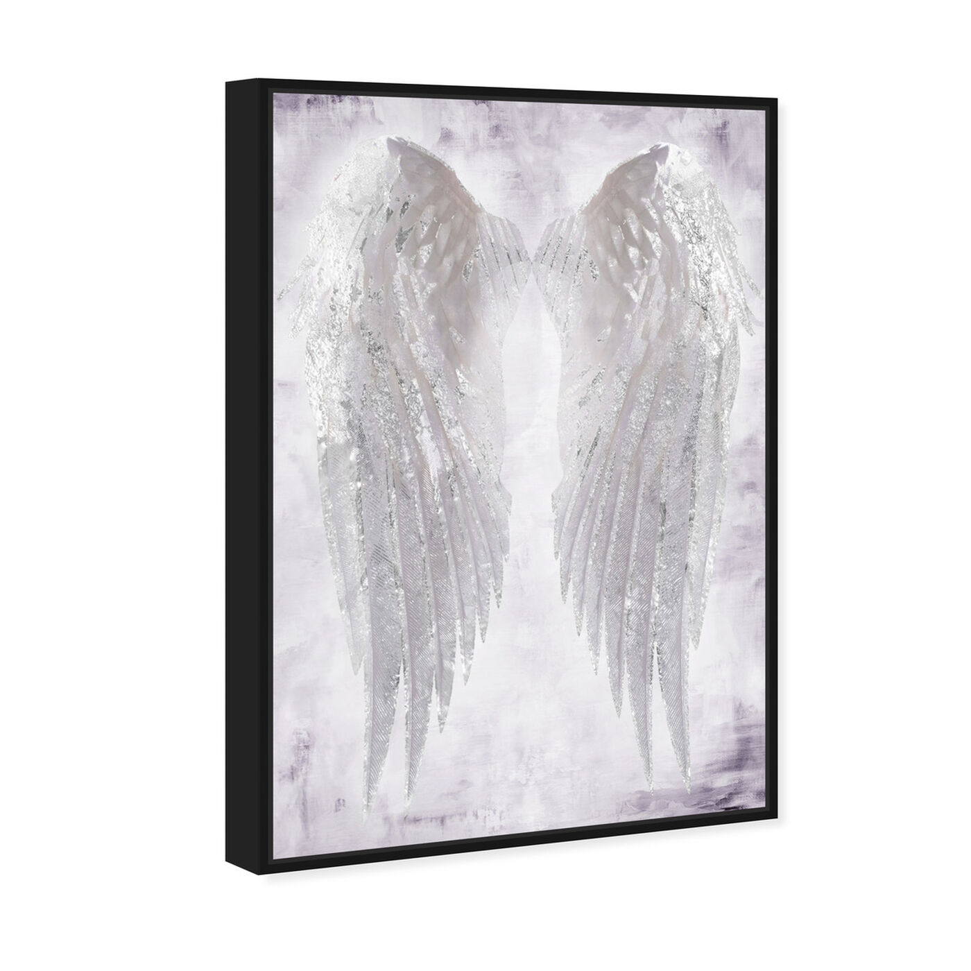 Angled view of Wings of Angel Amethyst featuring fashion and glam and wings art.