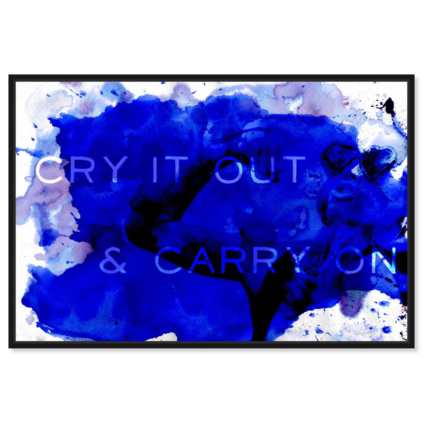 Front view of Carry On featuring typography and quotes and quotes and sayings art.