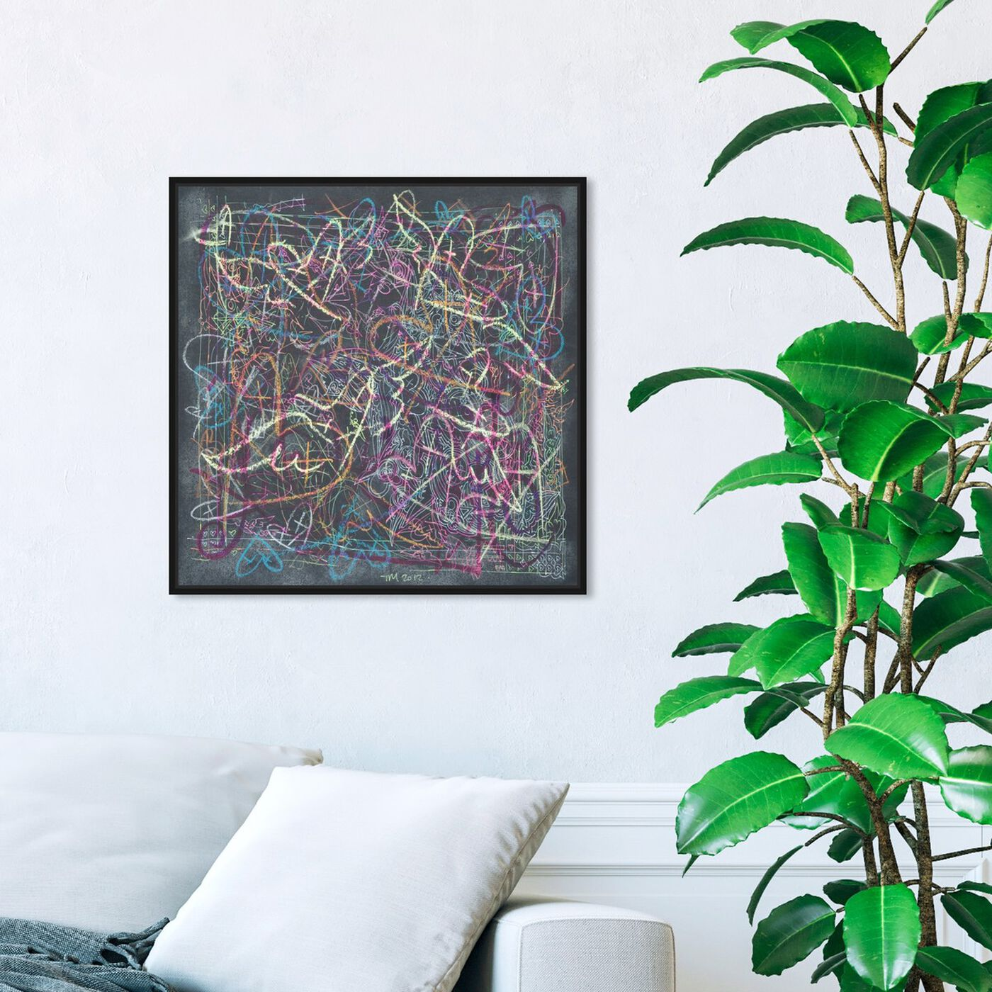 Hanging view of Mistura by Tiago Magro featuring abstract and textures art.