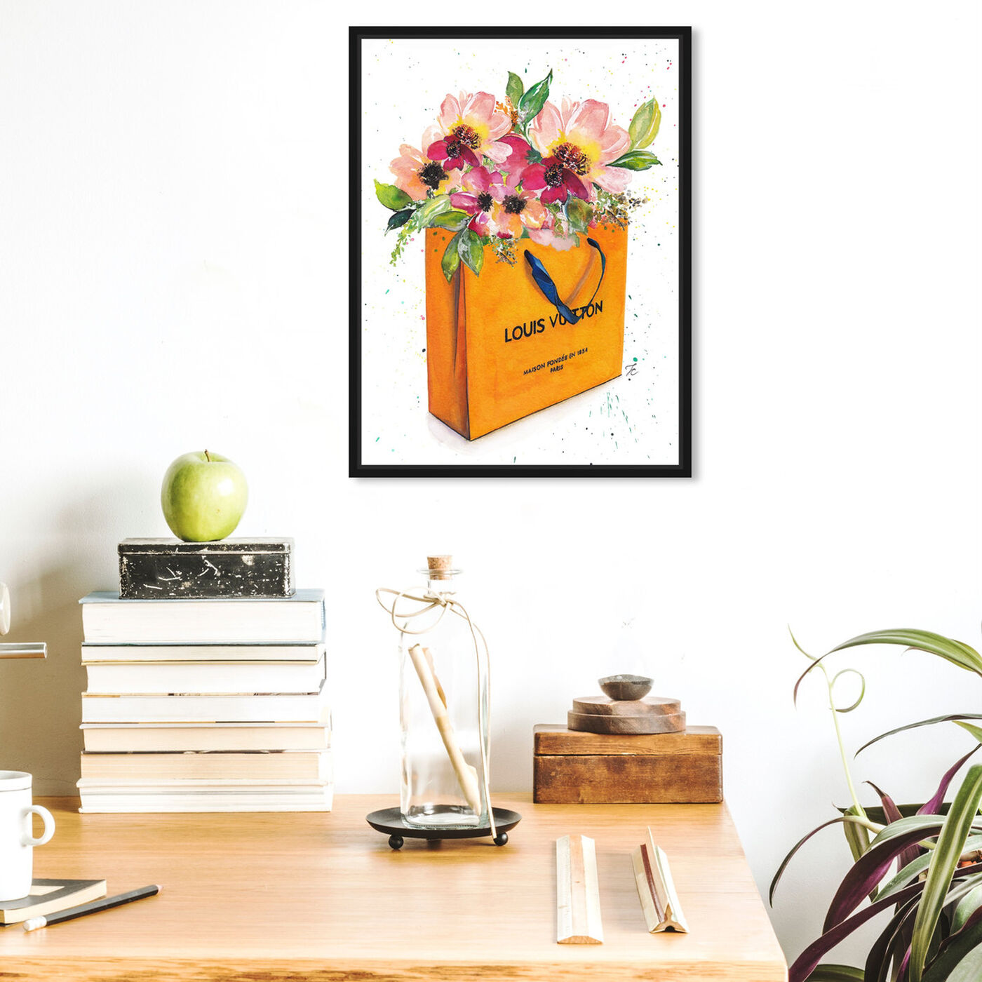 Hanging view of Doll Memories - Orange Shopper featuring fashion and glam and lifestyle art.