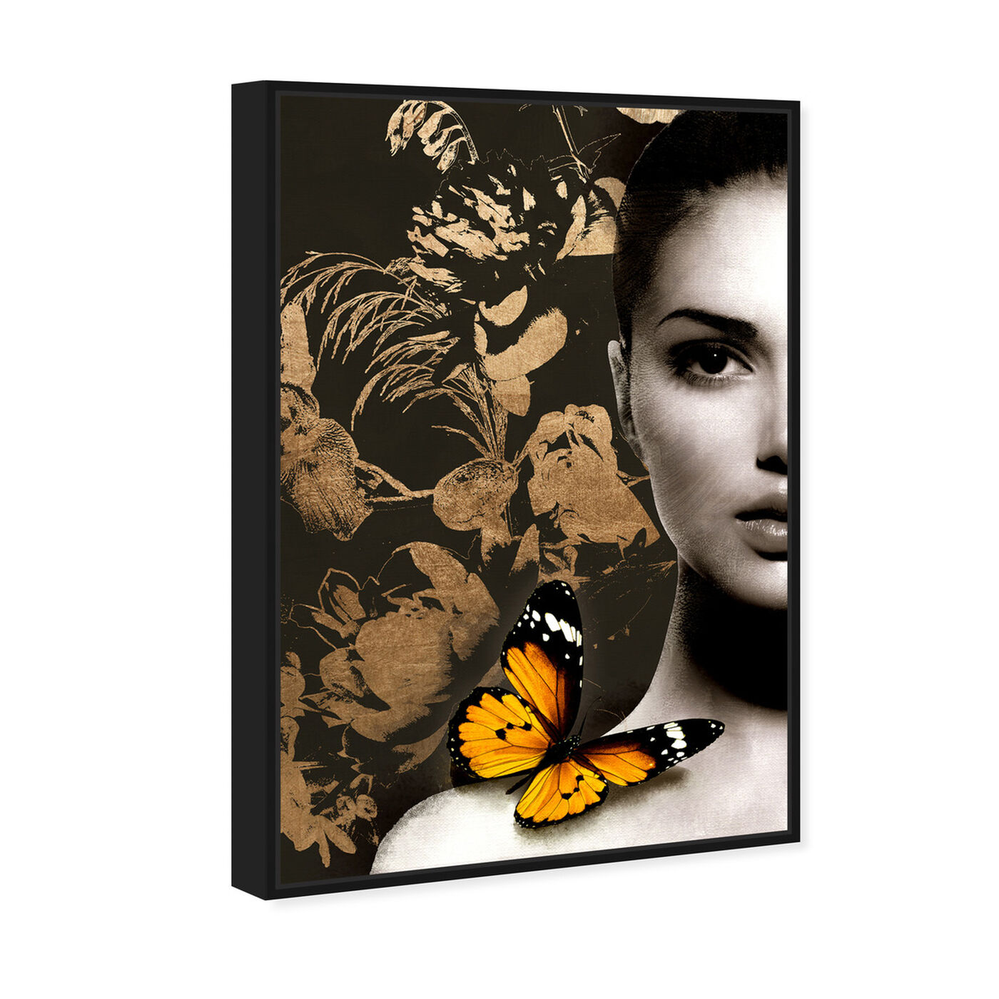 Angled view of Elusive Monarch Duchess Gold featuring fashion and glam and portraits art.