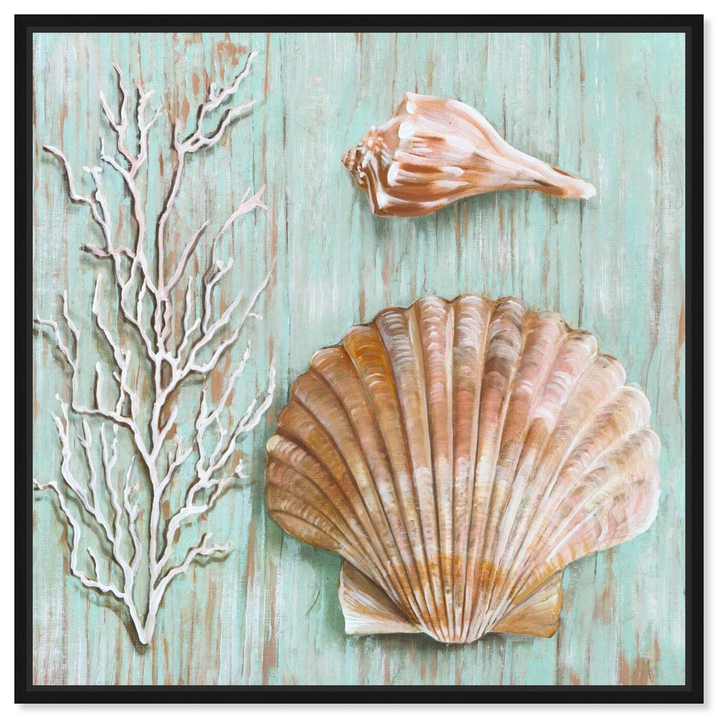 Front view of SAI - Maritimas Treasures IV featuring nautical and coastal and marine life art.