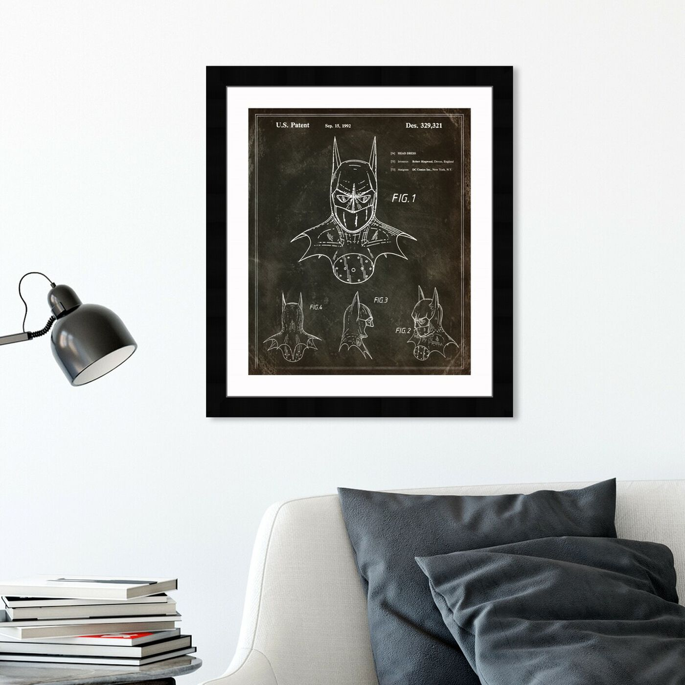 Hanging view of Batman, 1992 II featuring symbols and objects and toys art.