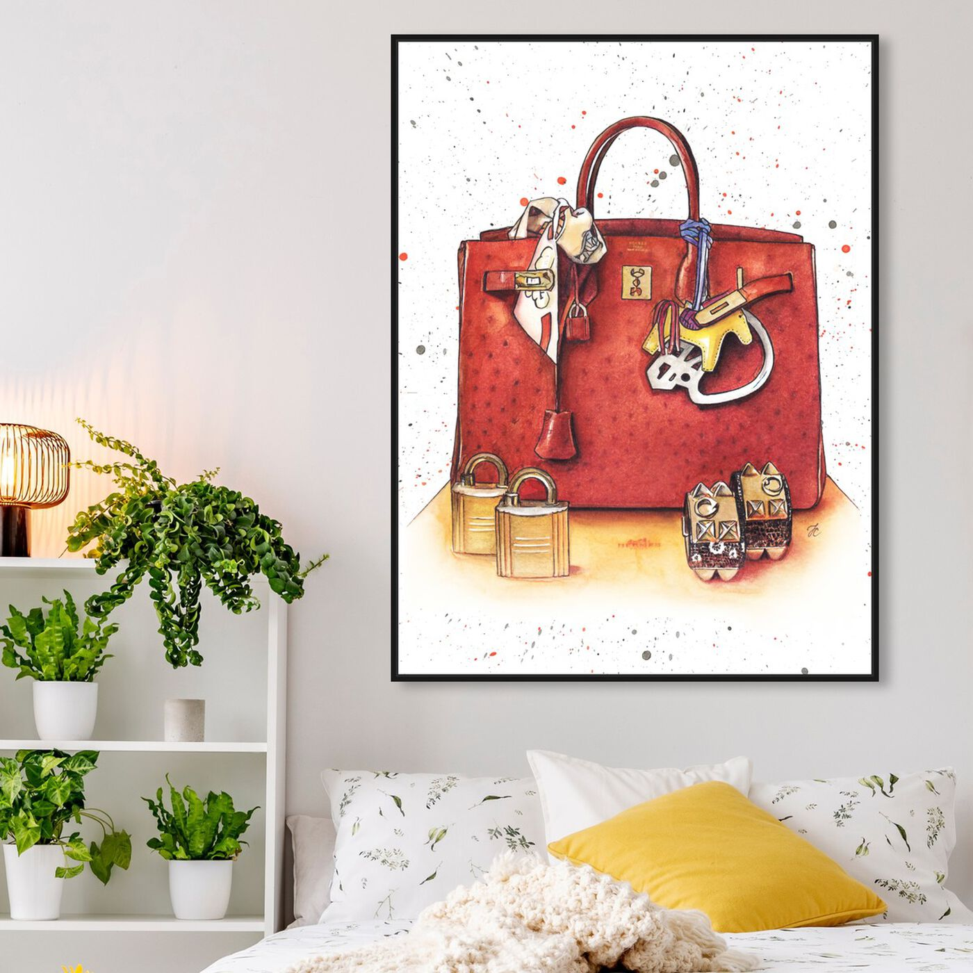 Hanging view of Doll Memories - Caramel Splash Bag featuring fashion and glam and handbags art.