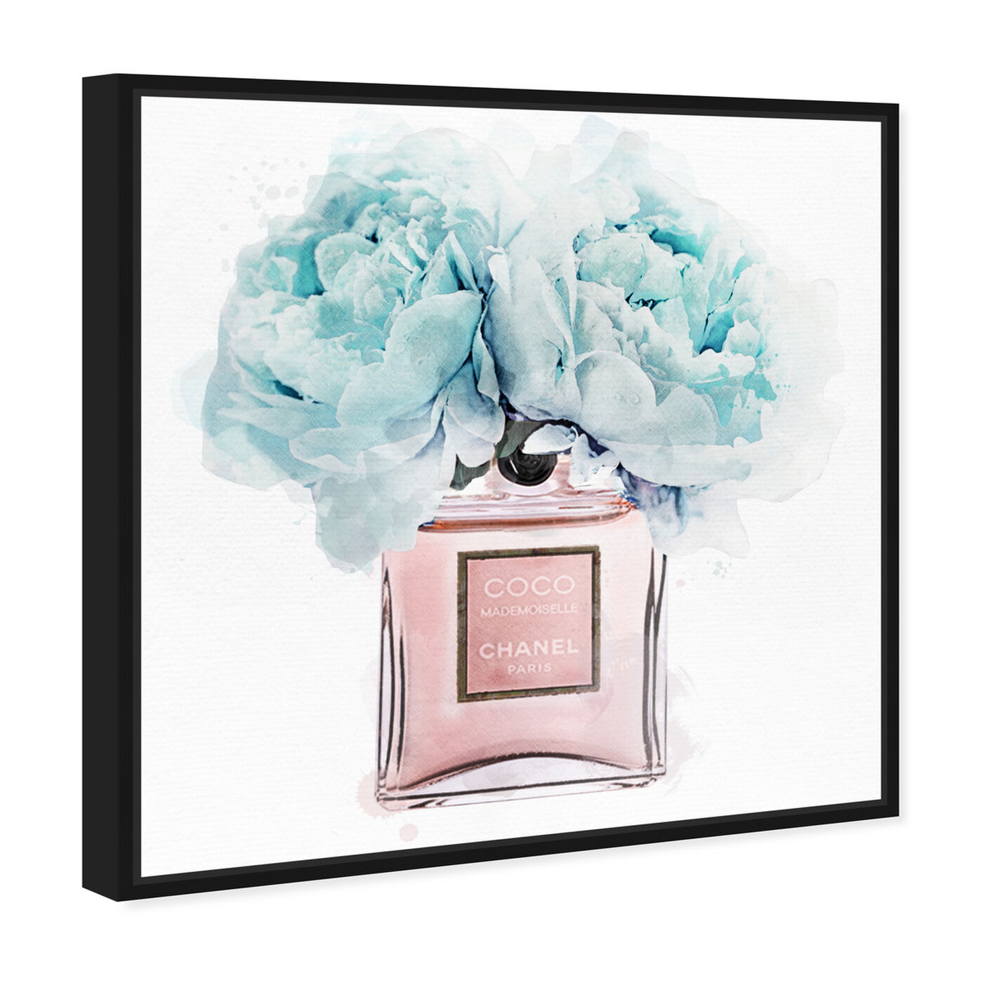 Angled view of Dawn Morning Bouquet Blue featuring fashion and glam and perfumes art.