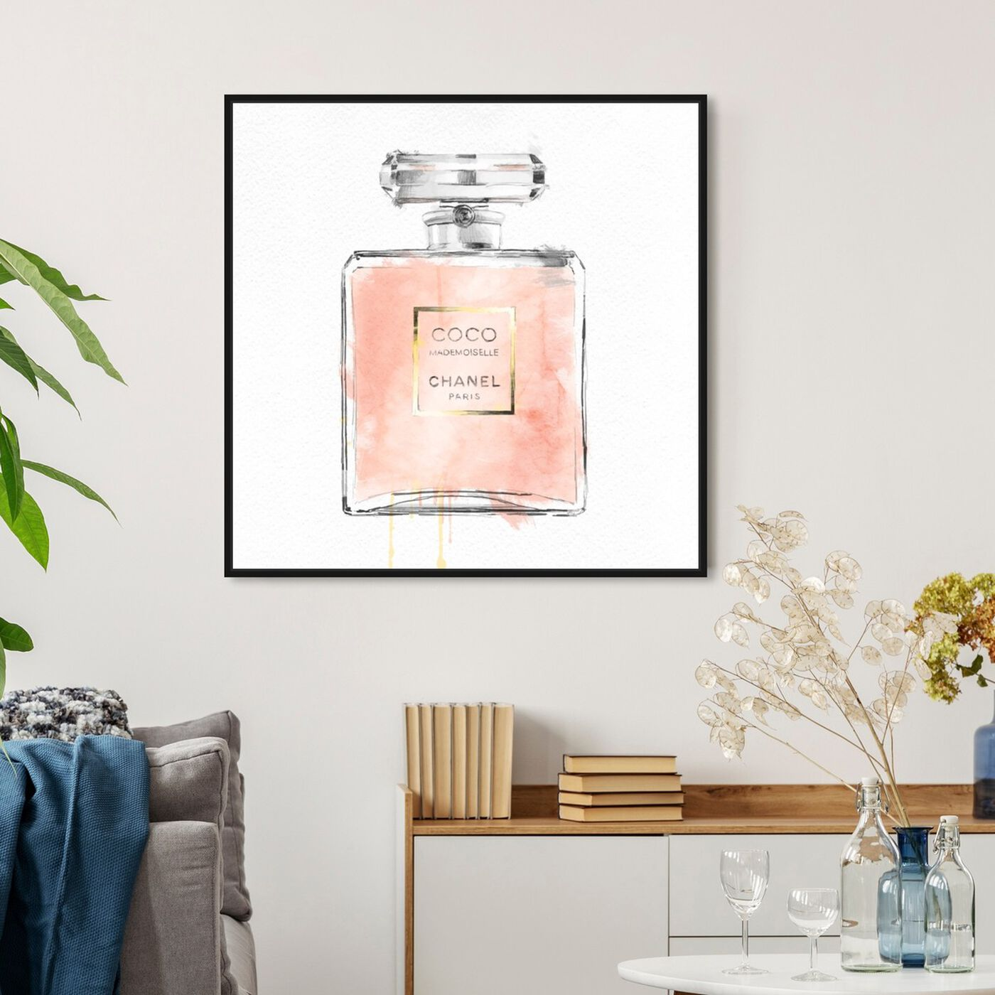 Hanging view of Mademoiselle featuring fashion and glam and perfumes art.