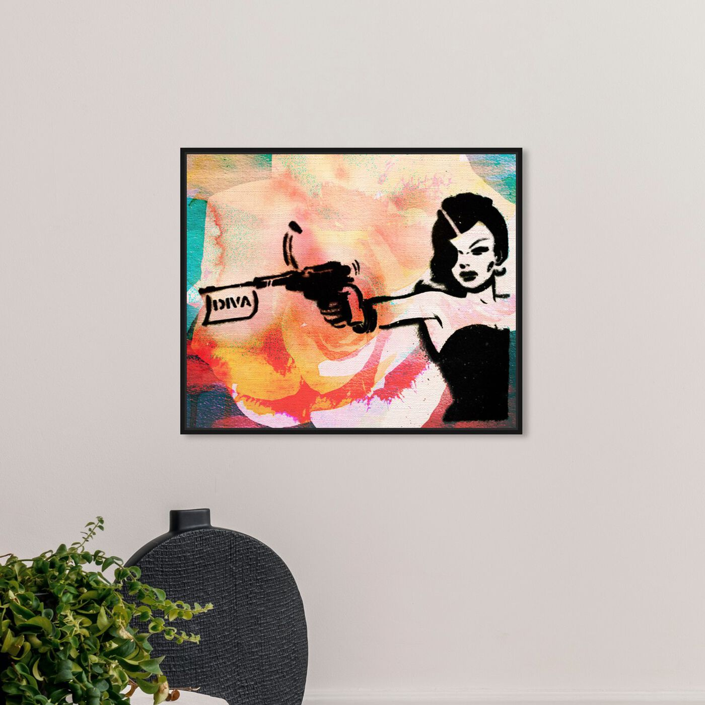 Hanging view of DIVA featuring entertainment and hobbies and machine guns art.