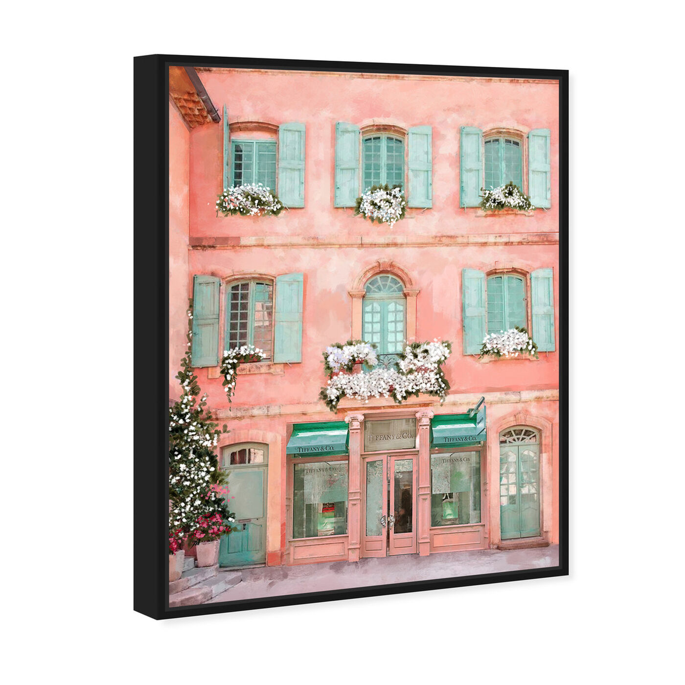 Angled view of Jewelry Store in Provence featuring fashion and glam and road signs art.
