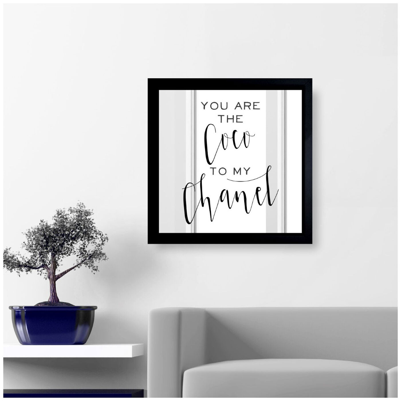 Hanging view of Fashion Best Friends featuring typography and quotes and fashion quotes and sayings art.