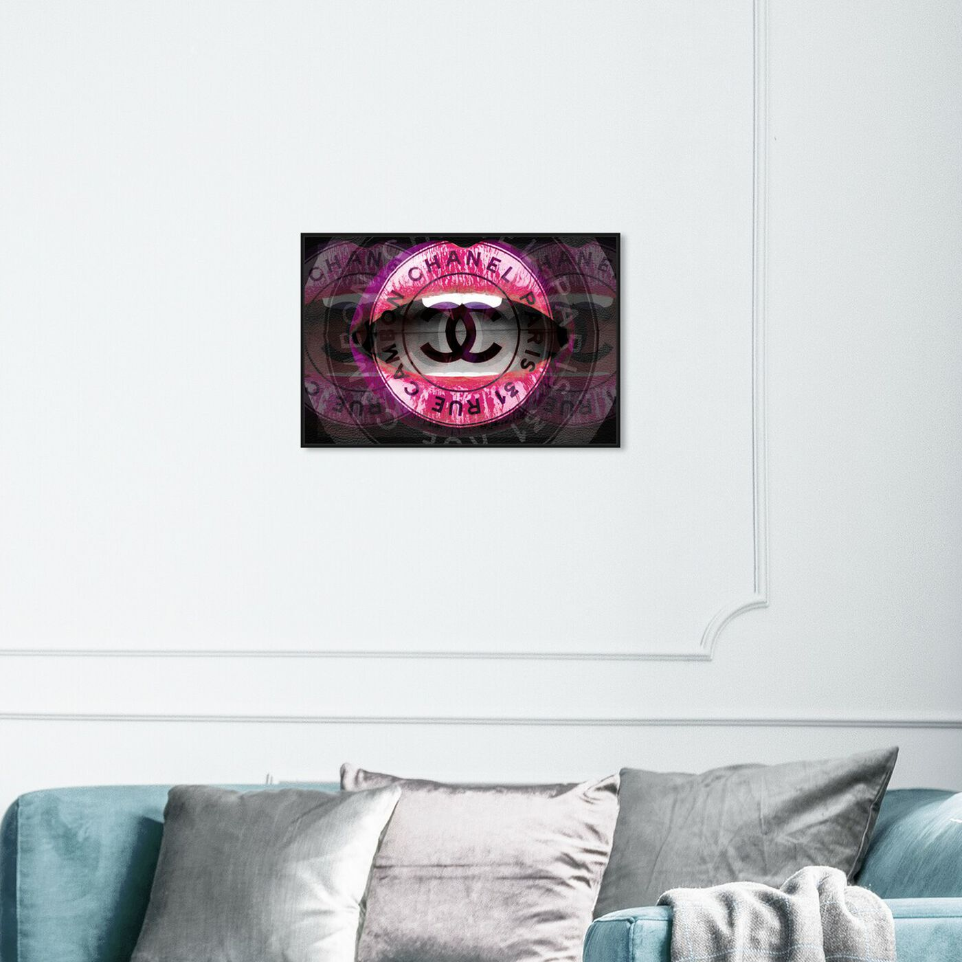 Hanging view of Lips in Paris featuring fashion and glam and lips art.