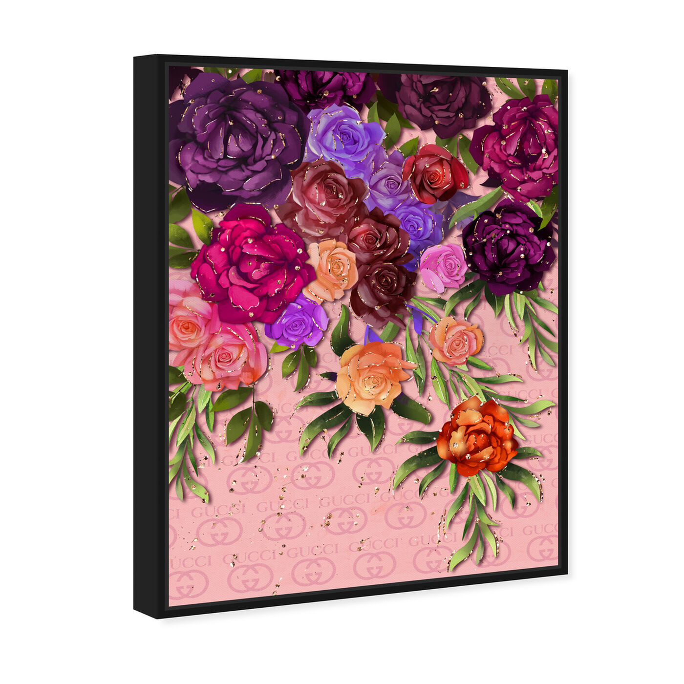 Angled view of Garden Floral Fashion featuring floral and botanical and florals art.