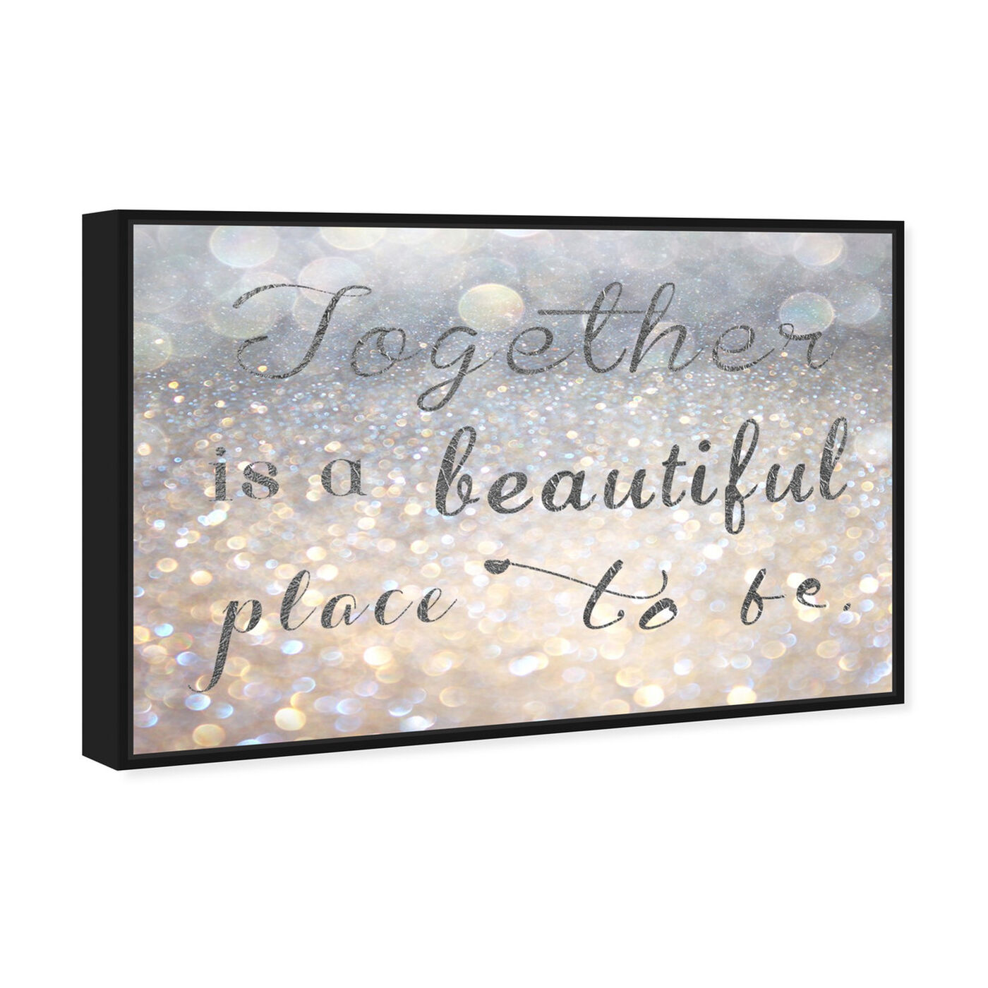 Angled view of Beautiful Place to Be featuring typography and quotes and family quotes and sayings art.