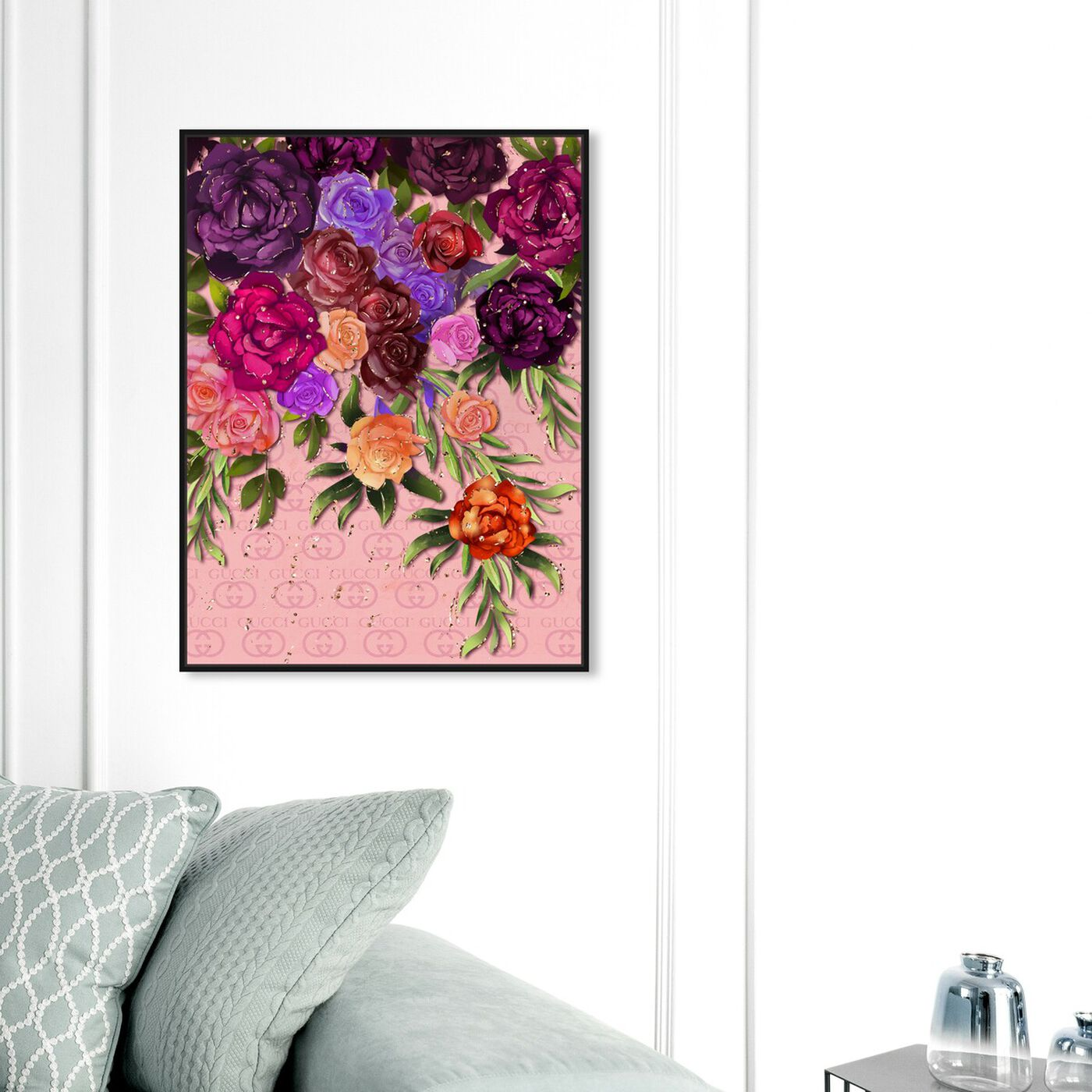 Hanging view of Garden Floral Fashion featuring floral and botanical and florals art.