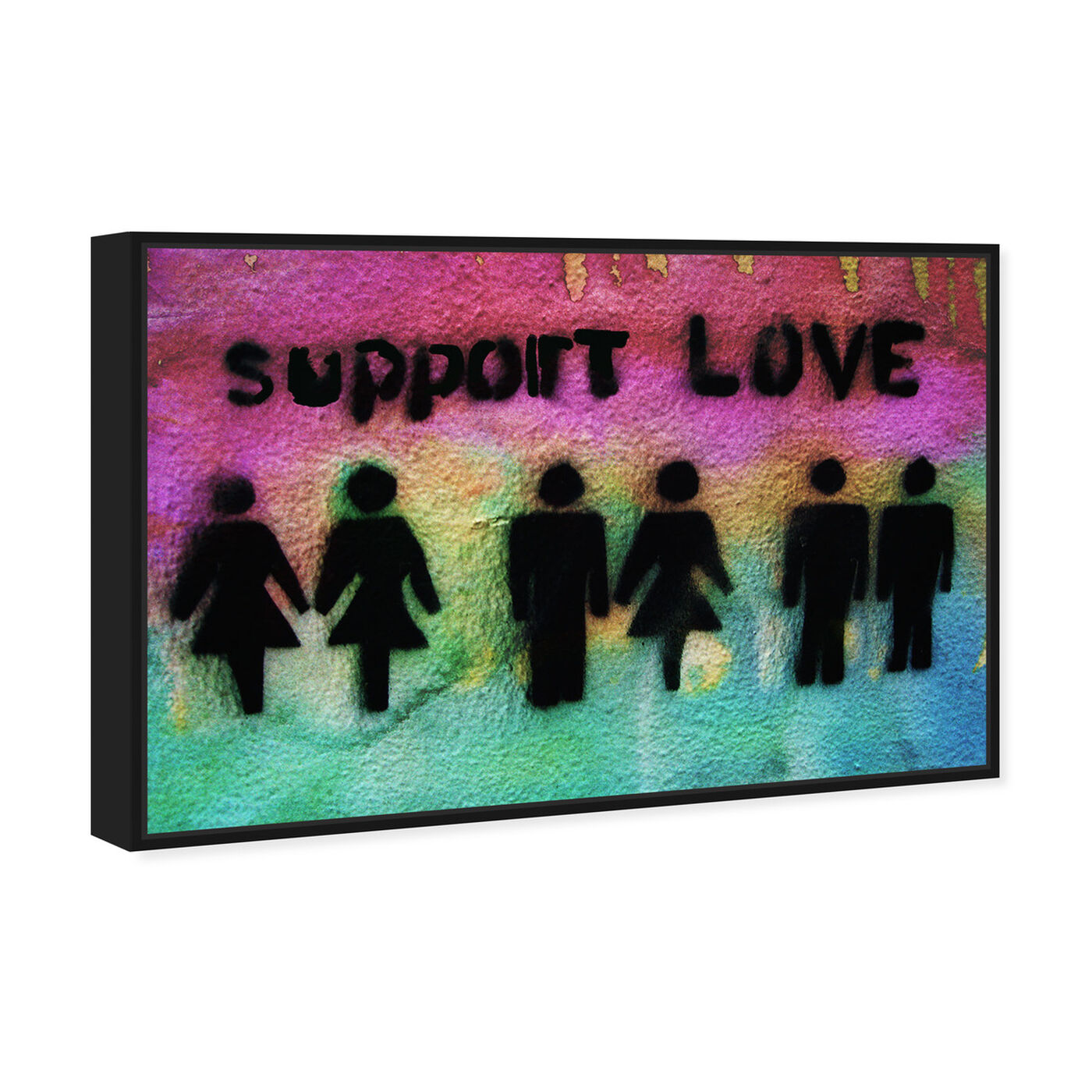 Angled view of Support Love featuring typography and quotes and love quotes and sayings art.