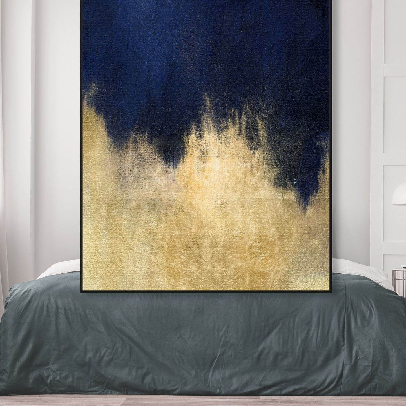 Hanging view of Stars at Midnight featuring abstract and paint art.