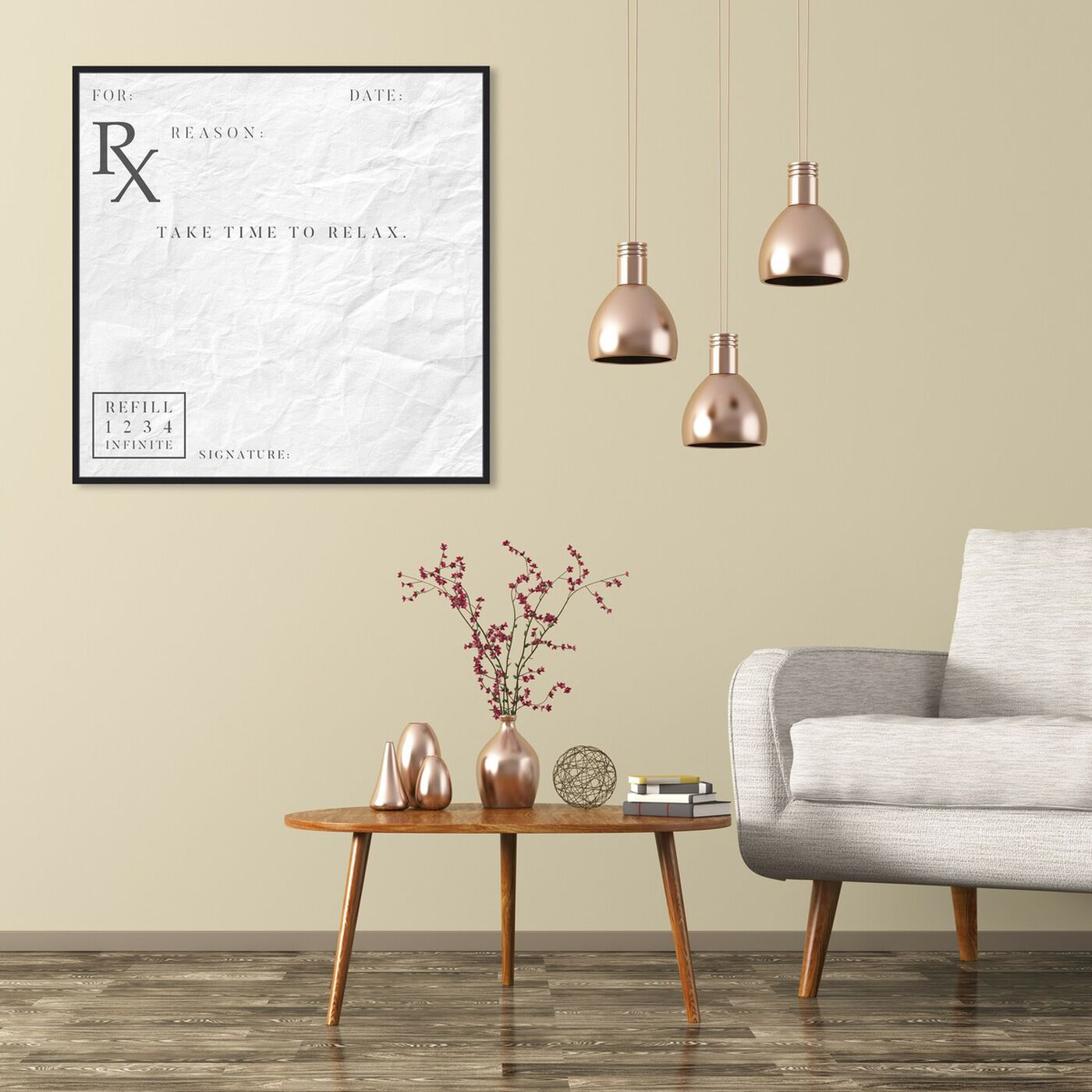 Hanging view of Take Time To Relax featuring typography and quotes and funny quotes and sayings art.