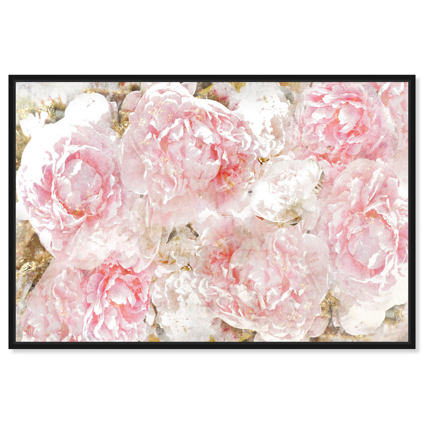 Front view of Pile O' Roses featuring floral and botanical and florals art.