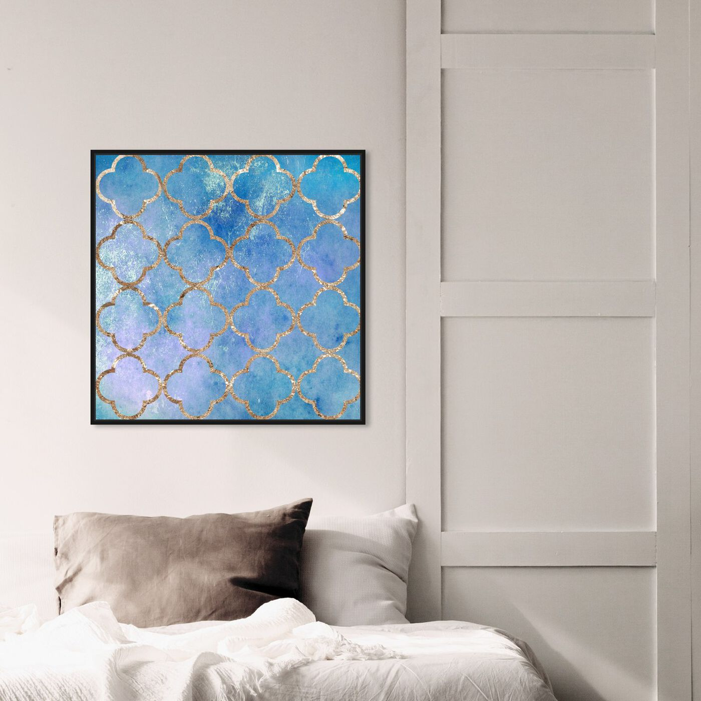 Hanging view of Volare Blu featuring abstract and patterns art.