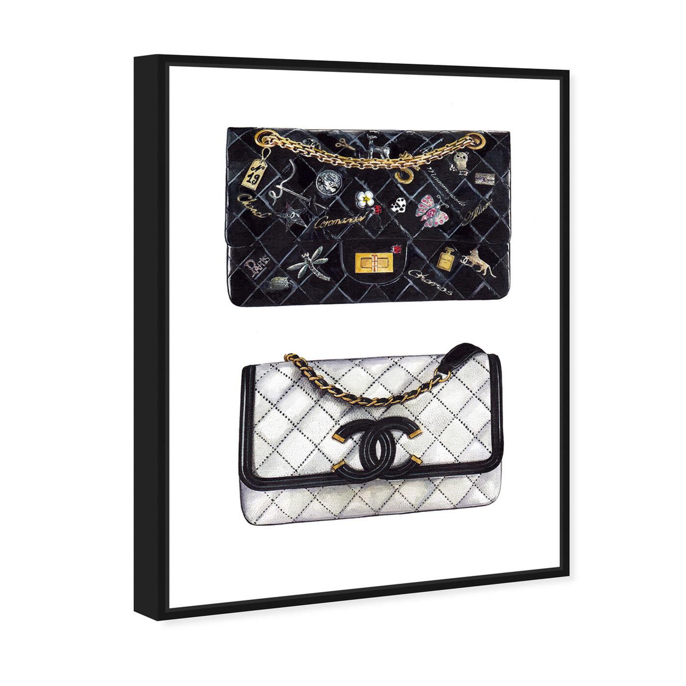 Angled view of Doll Memories - Iconic Boy Bag featuring fashion and glam and handbags art.