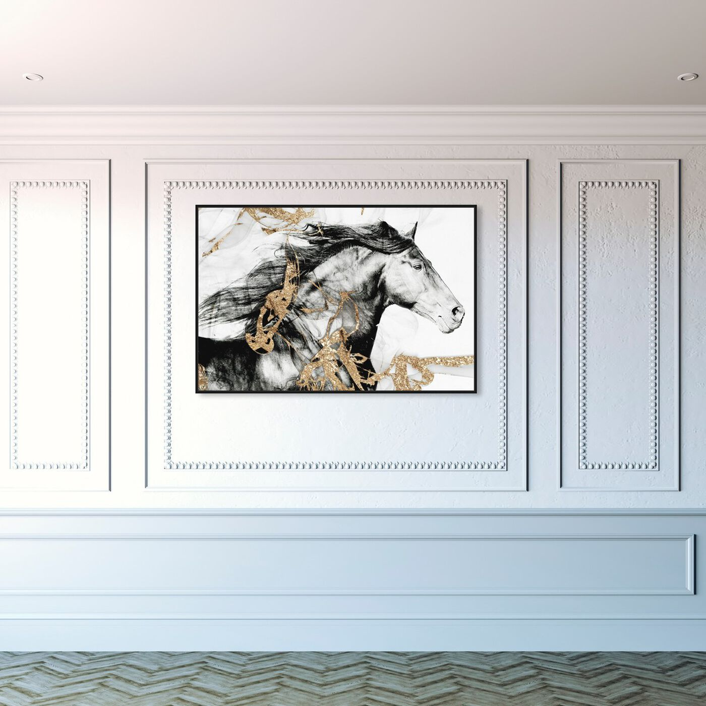 Hanging view of Gold Beauty featuring animals and farm animals art.