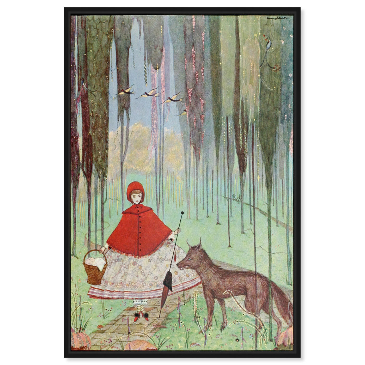 Front view of Little Red Riding Hood featuring fantasy and sci-fi and fairy tales art.