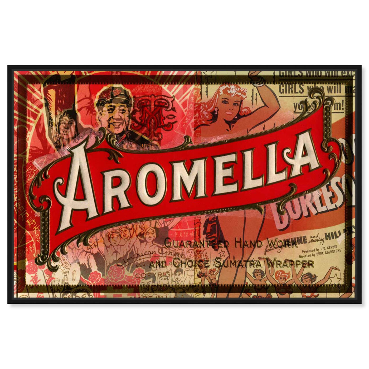Front view of Aromella featuring advertising and posters art.