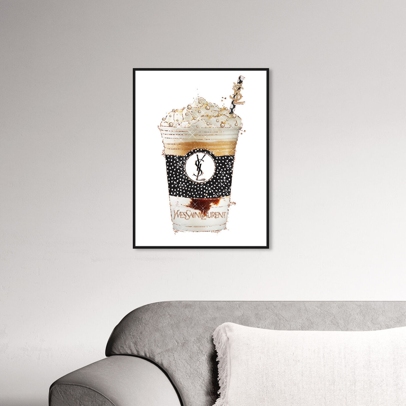 Hanging view of Pearly Latte Drink featuring fashion and glam and lifestyle art.